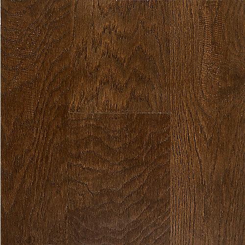 Échantillon - 7.48 po x 12 po, bois franc, fini imperméable, Amaretto