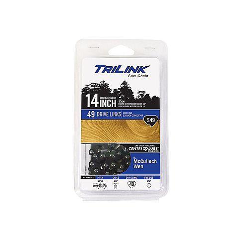 Chaîne TriLink de 14 po S49 pour scie à chaîne