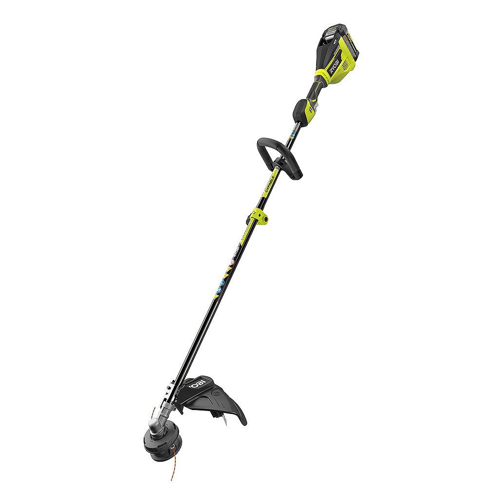 RYOBI 40V Lithium-Ion Brushless Electric Cordless Attachment Capable String Trimmer 4.0 Ah Battery