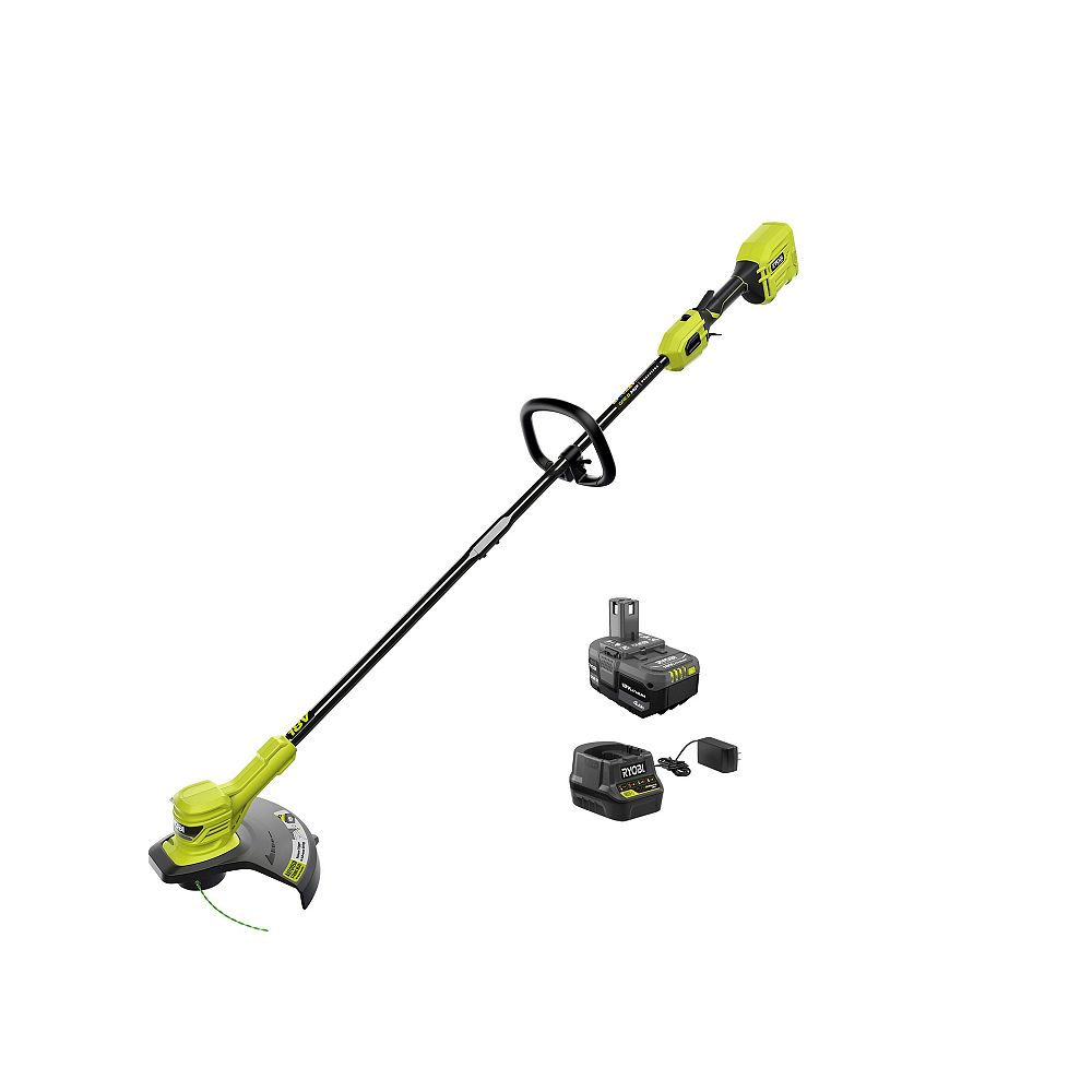 RYOBI 18V ONE+ HP Brushless Cordless String Trimmer Kit with 4.0 Ah Battery and Charger