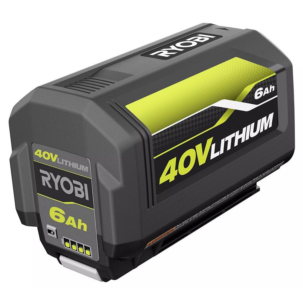 RYOBI 40V Lithium-Ion 6 Ah High Capacity Battery