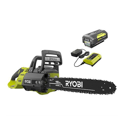 16 -inch 40V Brushless Lithium-Ion Cordless Chainsaw, 4 Ah Battery and Charger Included