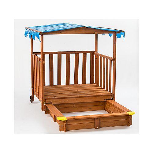 Creative Cedar Designs Sand N Shade Playhouse & Sandbox