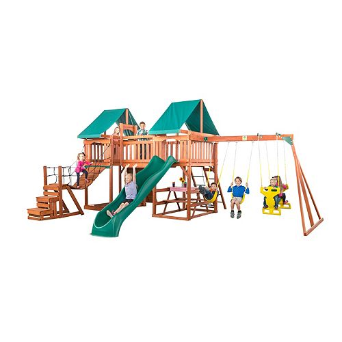 Jungle Fun Complete Wooden Swingset