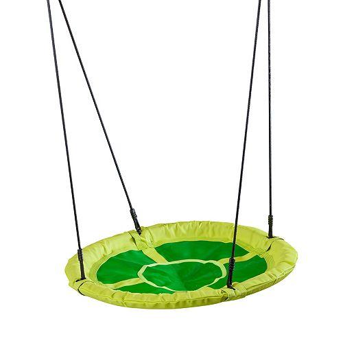 Balançoire-soucoupe circulaire pour enfants- vert