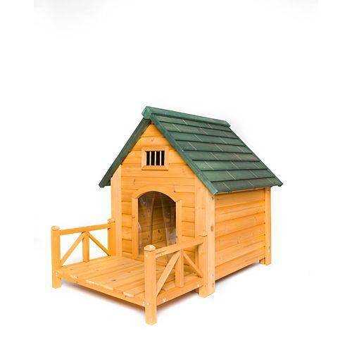 Niche pour chien K-9 Kastle 2515 avec porche et volets de porte (moyenne)
