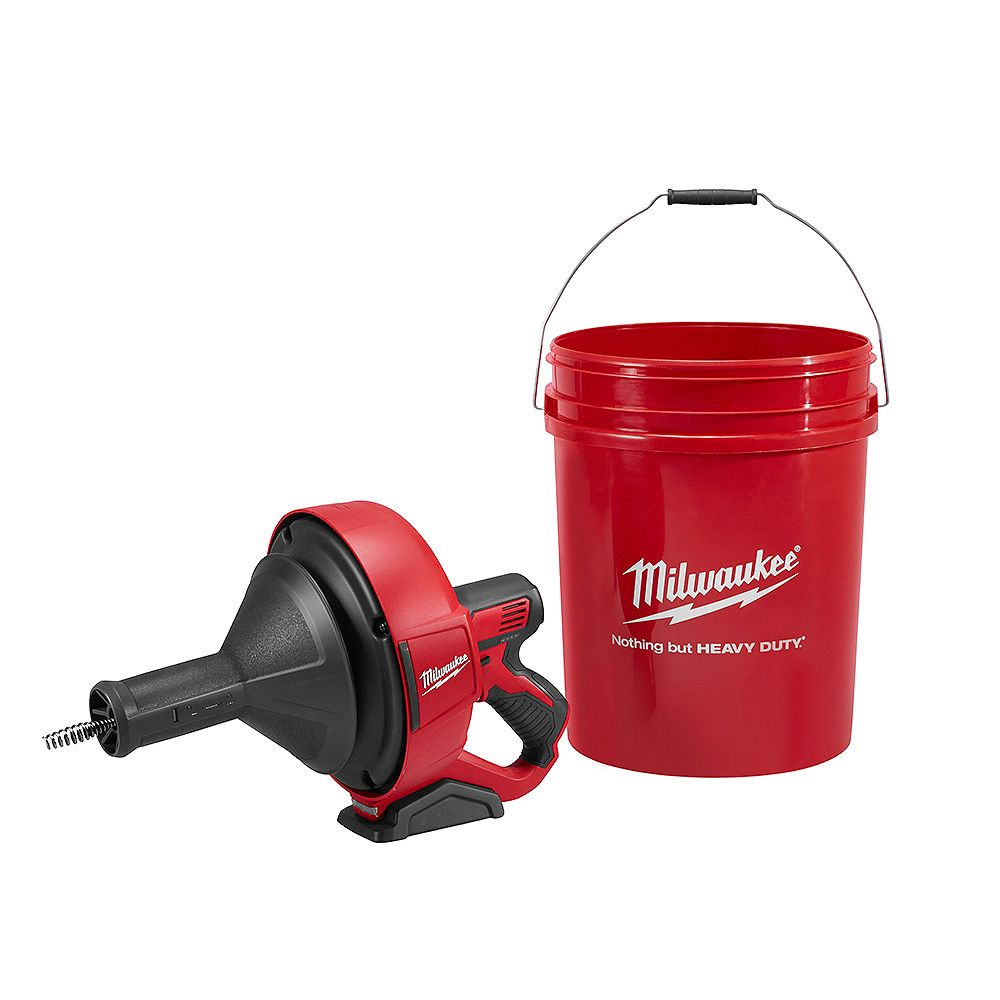 Milwaukee Tool M12 12V Lithium-Ion Cordless Auger Snake Drain Cleaning (Tool Only)