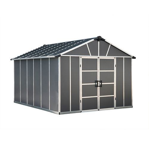 Palram Palram Yukon 11 ft. x 13 ft.  Dark Grey Storage Shed
