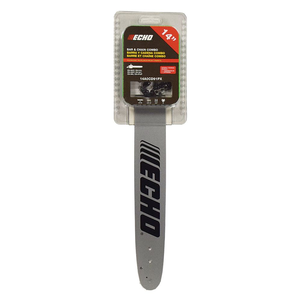 """ECHO 14"""" CHAINSAW GUIDE BAR AND CHAIN COMBO KIT"""