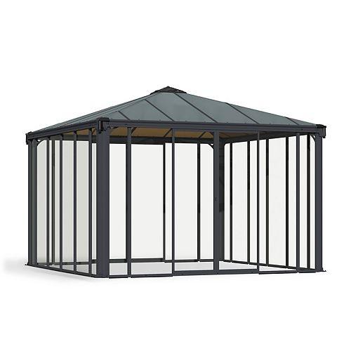 Palram Ledro 3600 12 ft. x 12 ft. Enclosed Gazebo and Spa Enclosure
