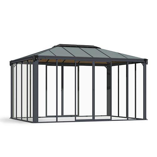 Palram Ledro 4300 14 ft. x 10 ft. Enclosed Gazebo and Spa Enclosure
