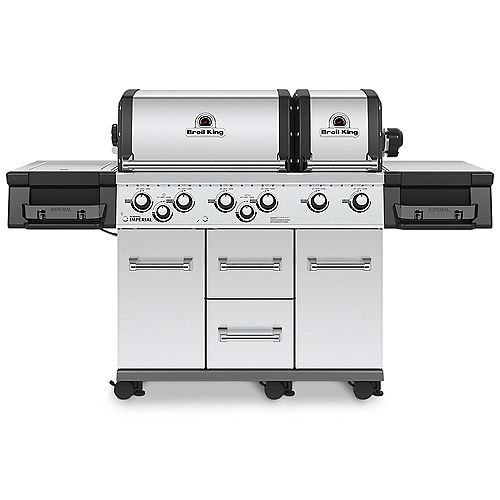 Imperial XLS 6 Burner 60,000 BTU LP Gas Grill with Side Burner and Rotisserie