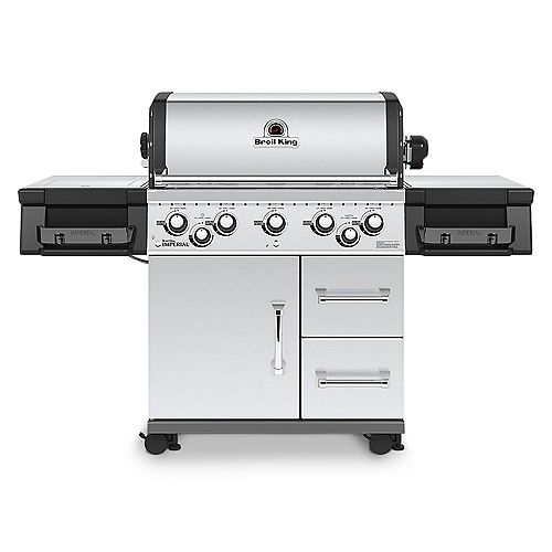 Imperial 590 5 Burner 55,000 BTU NG Gas Grill with Side Burner and Rotisserie
