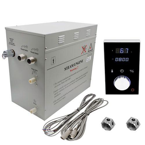 Générateur de bain à vapeur de luxe supérieur de 12 kW avec commande numérique programmable en noire