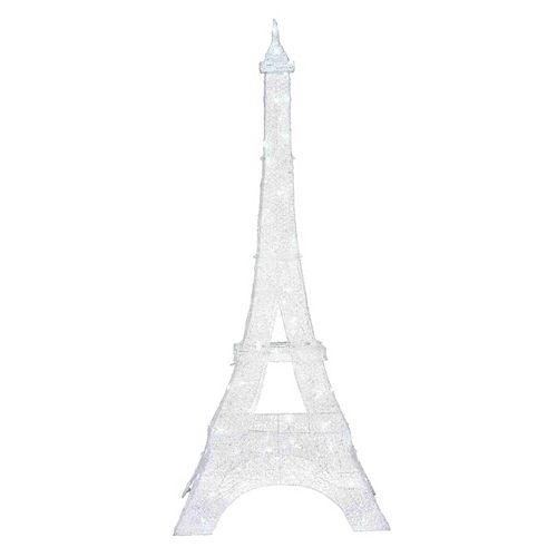 7 ft. LED Twinkling Eiffel Tower Christmas Decoration