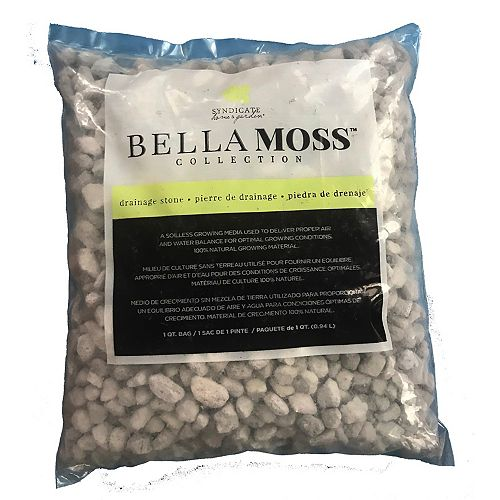 Les Entreprises Marsolais Bella Moss Collection Clear Decorative Stone