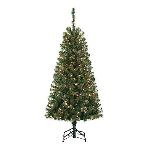 Home Accents Holiday 5 ft. Mackenzie Scotch Pine Pre-Lit Tree with 200 Incandescent Lights