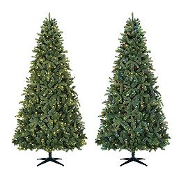 9 ft. Overland Pine Quick-Set Pre-Lit Tree with 600 Color-Changing SureBright Mini LED Lights
