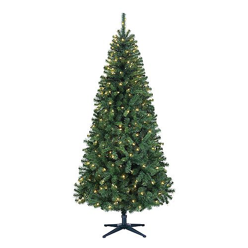 7 ft. Ashley Scotch Pine Pre-Lit Tree with 250 Warm White SureBright LED Lights