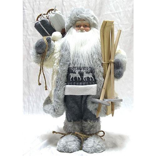 SN 16 inch Grey Standing Santa