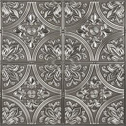 Chelsea Silver Peel & Stick Tin Tiles