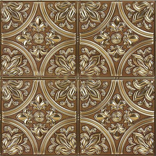 InHome Chelsea Bronze Peel & Stick Tin Tiles