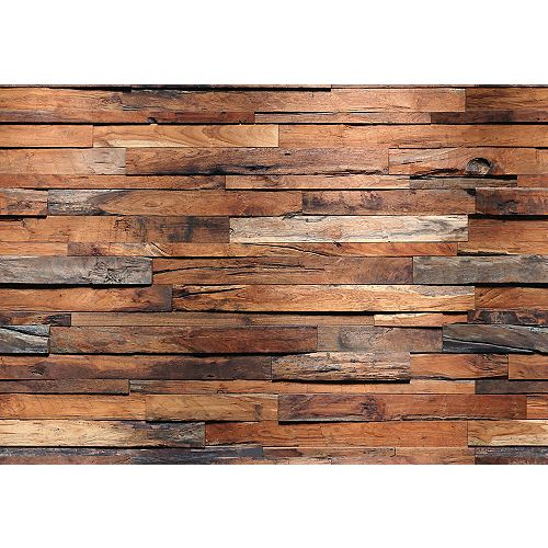 Murale en bois de récupération