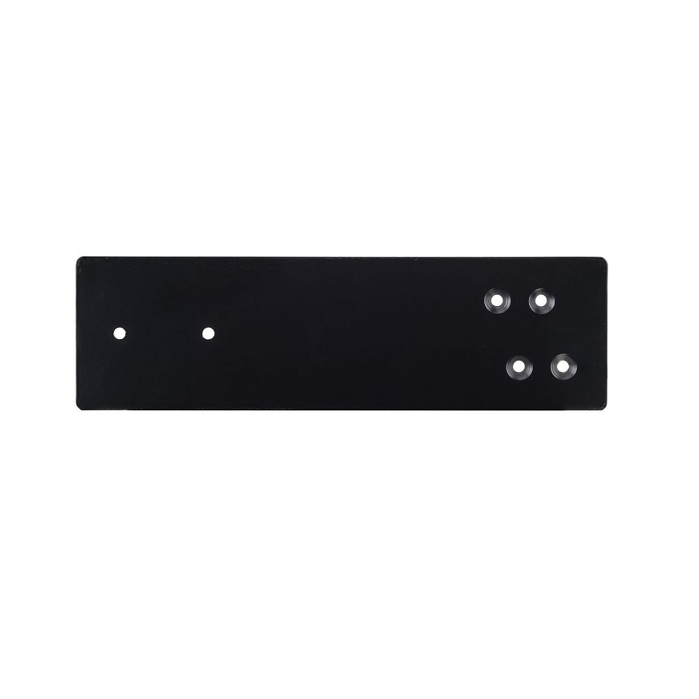 Richelieu 12 -inch (305 mm) K-300 Kolossus Countertop Bracket, Black, 1/4 -inch Thickness