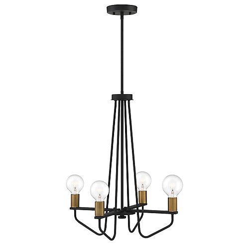 Designers Fountain Ravella 4-Light Black Interior Chandelier