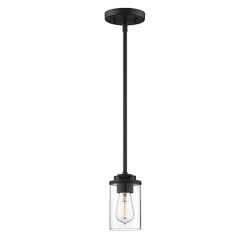 Mini-suspension Jedrek noire à 1 lumière