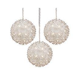 50-Light LED-Lit Hanging Sphere Christmas Decoration (3-Pack)