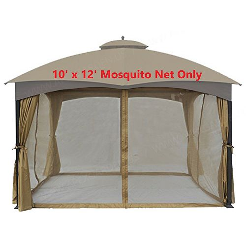 Universal 10' x 12' Mosquito Netting for Gazebo Replacement - Beige