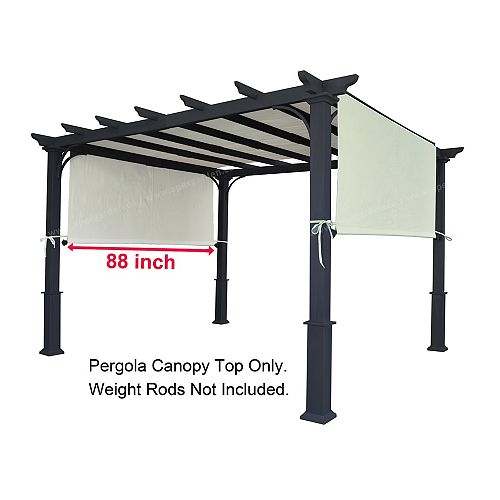 "Universal Replacement Pergola Canopy Top - Beige (88""x196"")"
