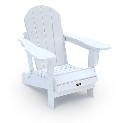 Chaise Adirondack pliante en plastique recyclé - Rouge