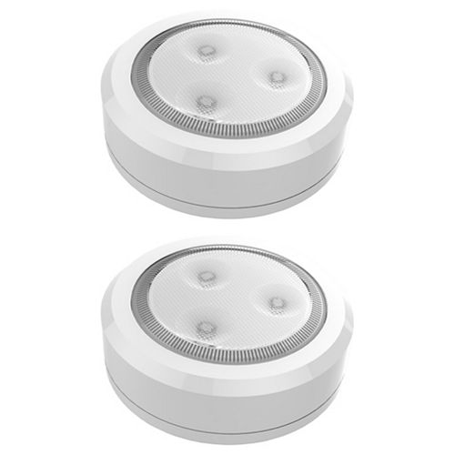 Brilliant Evolution Wireless Ultra Thin LED Puck Light 2 Pack