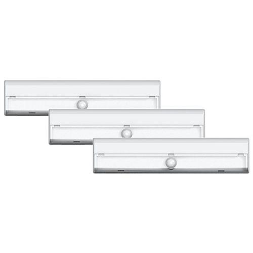 Ensemble de 3 luminaires détecteurs de mouvement DEL pour escalier sans fil