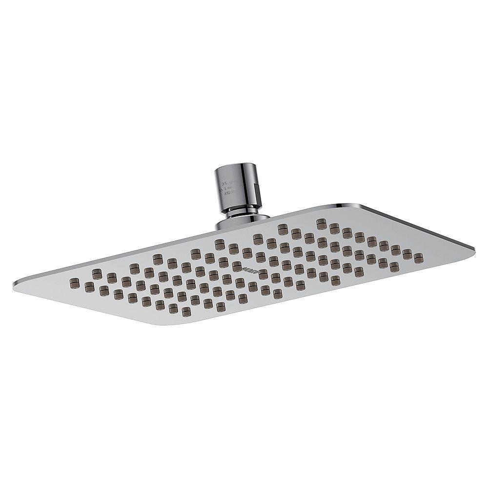 MOEN 1-Spray 8-inch Flat Square Rainshower Showerhead in Chrome
