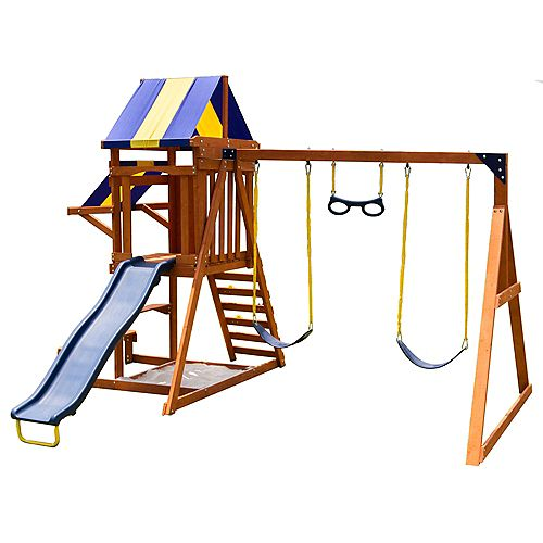 Sunny Slope Wooden Swing Setg