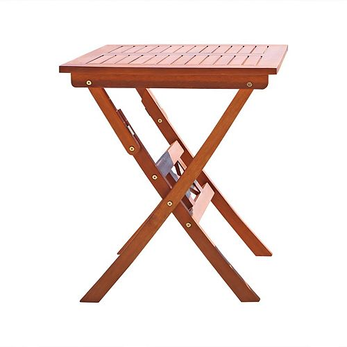 Malibu Brown Square Patio Outdoor Side & Accent Table