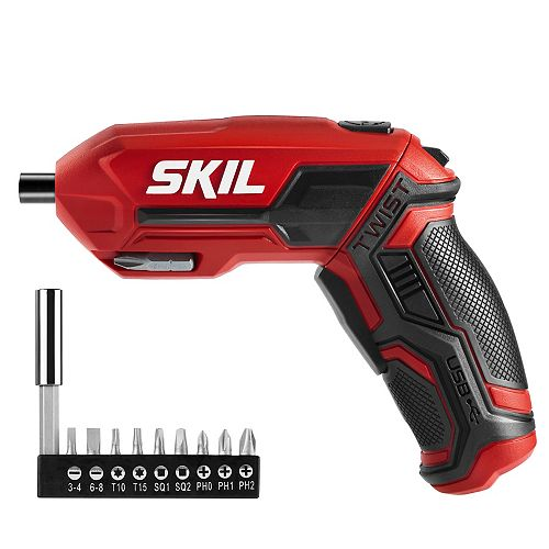 Skil 4V Rechargeable Screwdriver With Pivot Grip & Magnetic Bit Storage - USB Adapter & Cable Included