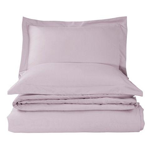 Solid Duvet Cover Set Lavender King