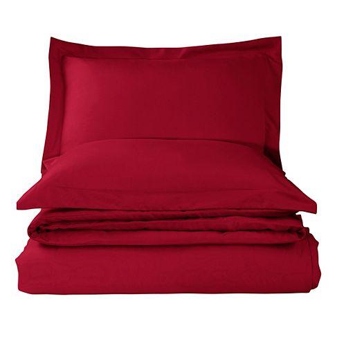 Solid Duvet Cover Set Red King