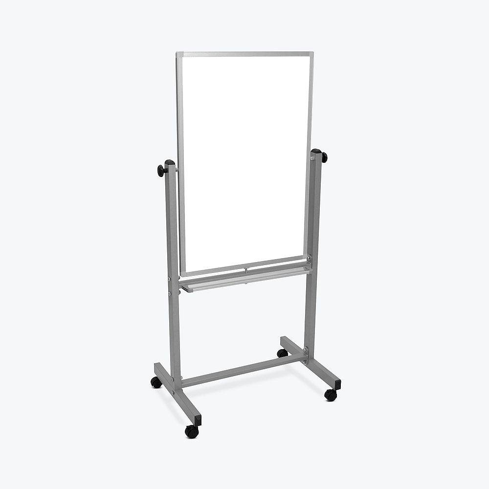 """Luxor 24""""W x 36""""H Double-Sided Magnetic Whiteboard"""