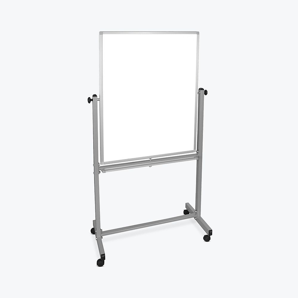 """Luxor 30""""W x 40""""H Double-Sided Magnetic Whiteboard"""