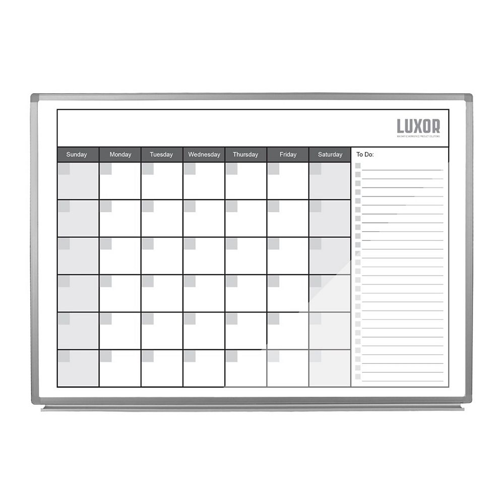 """Luxor 36""""W x 24""""H Wall-Mounted Magnetic Whiteboard"""