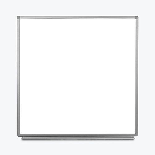 """Tableau blanc magnétique mural 48 """"L x 48"""" H"""