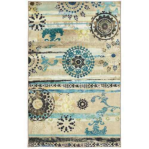 Mohawk Home Caloundra Turquoise 8 ft. x 10 ft. Indoor Area Rug