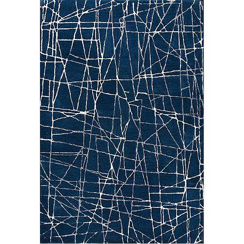 Notre Dame Design Tapis intérieur 5 pi x 8 pi Marmor, bleu