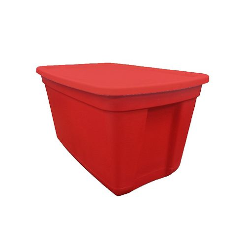 76L Stackable Storage Tote in Red