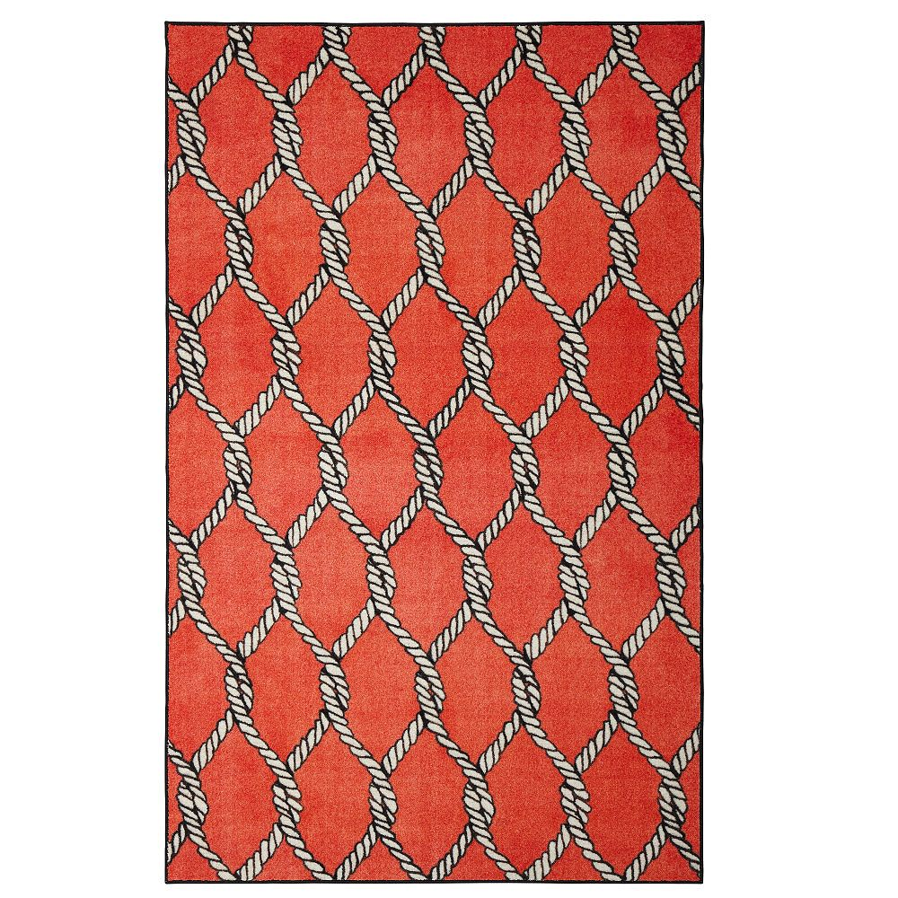 Mohawk Home Coastal Net Red 5 Ft X 8 Ft Indoor Area Rug The Home Depot Canada